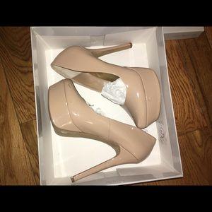 Nude heels from Jessica Simpson